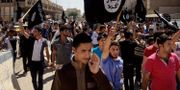 IS-anhängare i Mosul sommaren 2014. STR / TT / NTB Scanpix