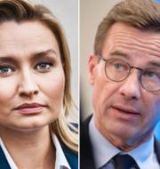 Jimmie Åkesson, Ebba Busch och Ulf Kristersson. TT