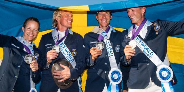 Det svenska silverlaget i USA i september. JOEL MARKLUND / BILDBYR N