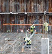 Byggarbetsplats i Oslo. Arkivbild. Kallestad, Gorm / TT NYHETSBYRÅN