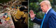 Orkanen Maria orsakade stor skada i Puerto Rico( Donald Trump  TT/AP