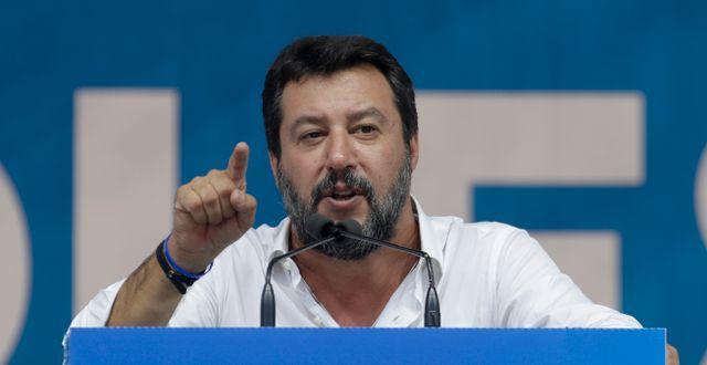Matteo Salvini. Luca Bruno / TT NYHETSBYRÅN