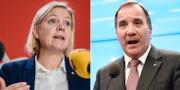 Magdalena Andersson och Stefan Löfven. TT.