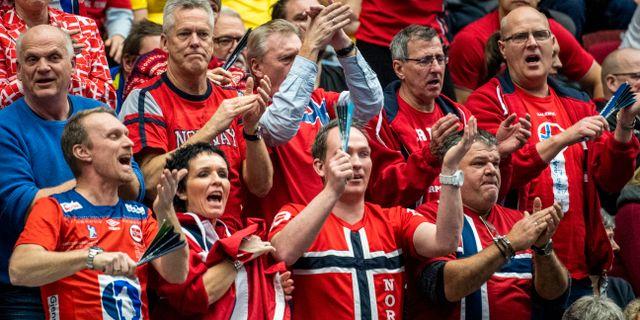 Norska fans på Malmö Arenas läktare. LUDVIG THUNMAN / BILDBYRÅN