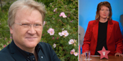 Arkivbild på Lars Adaktusson och V-politiken Malin Björk under kvällens debatt. TT