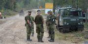 Bild från Tränsglets skjutfält på lördagen. TT NEWS AGENCY / TT NYHETSBYRÅN