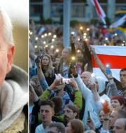Paul Hansen var på plats för att bevaka protesterna i Minsk. TT