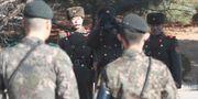 Vakter vid gränsen mellan Nord- och Sydkorea.  Lee Jin-man / TT NYHETSBYRÅN