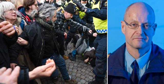 Bilder från protesten/Mats Löfving TT