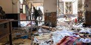 Bild från den attackerade kyrkan St Anthony's Shrine. ISHARA S. KODIKARA / AFP