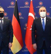 Heiko Maas och Mevlüt Çavuşoğlu. Fatih Aktas / TT NYHETSBYRÅN