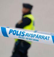 Polisavspärrning/Arkivbild.  Johan Nilsson/TT / TT NYHETSBYRÅN