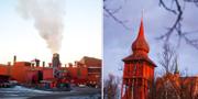 Gruvan i Kiruna och Kiruna kyrka. TT