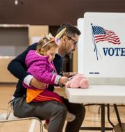 Zane Shami förtidsröstar i Michigan. Kendall Warner / TT NYHETSBYRÅN