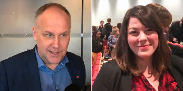 Jonas Sjöstedt och Ana Süssner Rubin.  TT