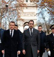 Michel Delpuech längst till höger. Arkivbild. Thibault Camus / TT NYHETSBYRÅN/ NTB Scanpix
