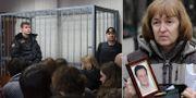 Sergej Magnitskil skulle ställas inför rätta för korruptionsbrott i Ryssland med dog i fängelse 2009. Till höger hans mamma Natalia Magnitskaja.  TT