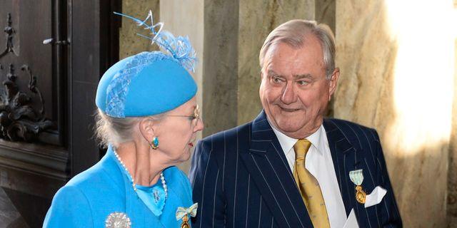 Drottning Margrethe och prins Henrik av Danmark i Stockholm 2013. MAJA SUSLIN / TT / TT NYHETSBYRÅN