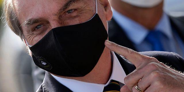 Brasiliens president Jair Bolsonaro. Eraldo Peres / TT NYHETSBYRÅN
