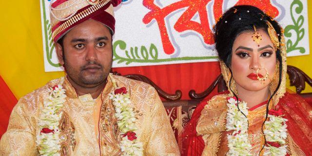 Tariqul Islam och Khadiza Akter Khushi. HANDOUT / AFP