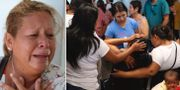 Vanessa Galindo Blas förlorade sin make. Anhöriga sörjer en som dog i dådet.  AP