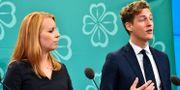 Annie Lööf och Emil Källström. Alexander Larsson Vierth/TT / TT NYHETSBYRÅN