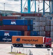 Illustrationsbild: Frakthamnen APM Terminals i Göteborg.  Björn Larsson Rosvall/TT / TT NYHETSBYRÅN