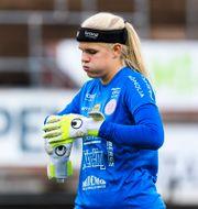 Uppsalas målvakt Emma Holmgren vid en tidigare match Arkivbild.  CARL SANDIN / BILDBYRÅN