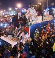 Begravningsceremoni för Qassem Soleimani i iranska staden Qom på måndagen. MEDHI MARIZAD / FARS NEWS