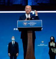 Bild på Joe Biden igår. Carolyn Kaster / TT NYHETSBYRÅN