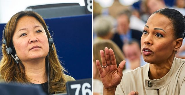 Jessica Polfjärd och Alice Bah Kuhnke.  TT