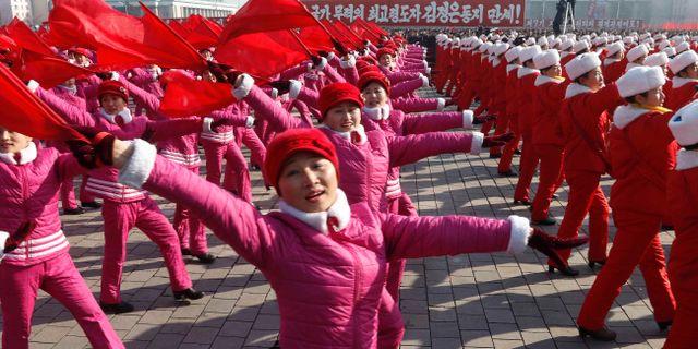 Illustrationsbild. Ceremoni i Pyongyang. Jon Chol Jin / TT NYHETSBYRÅN