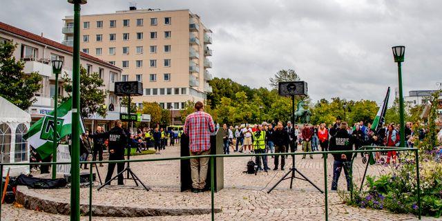 NMR talade på Nytorget i Kungälv. Adam Ihse/TT / TT NYHETSBYRÅN