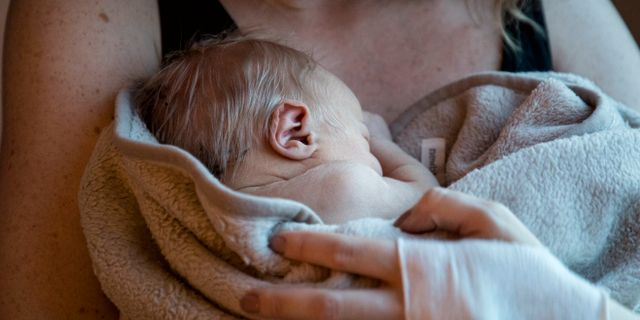 Nyfödd bebis. Christine Olsson/TT / TT NYHETSBYRÅN