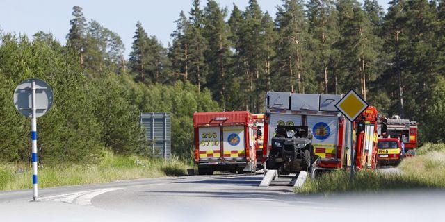 Arkivbild på brandbekämpning vid skogsbrand utanför Arlanda 2019.  Fredrik Persson/TT / TT NYHETSBYRÅN