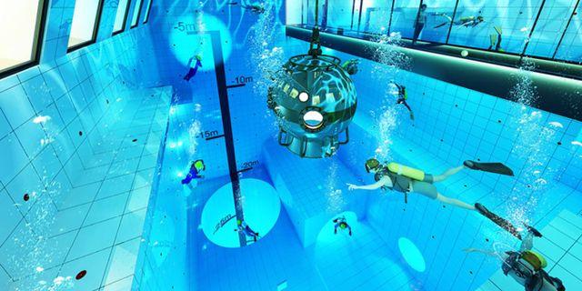 Den nya rekorddjupa poolen i Polen kommer ha grottor och avsatser under vattnet. Flyspot.com/Deepspot