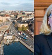 Arkivbilder: Vy över Stockholm. Handelsbankens vd Carina Åkerström.  TT