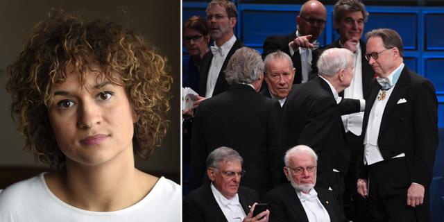 Bianca Kronlöf (t v), Nobelprisutdelningen 2017 (t h) TT
