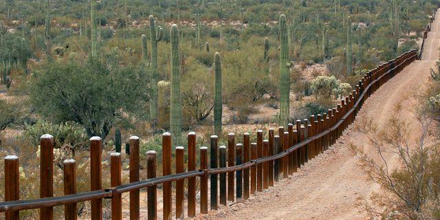 Del av gränsmur i Arixona  Matt York / TT NYHETSBYRÅN/ NTB Scanpix