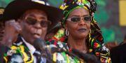 Avsatte presidenten Robert Mugabe och hans fru Grace Mugabe. Tsvangirayi Mukwazhi / TT / NTB Scanpix