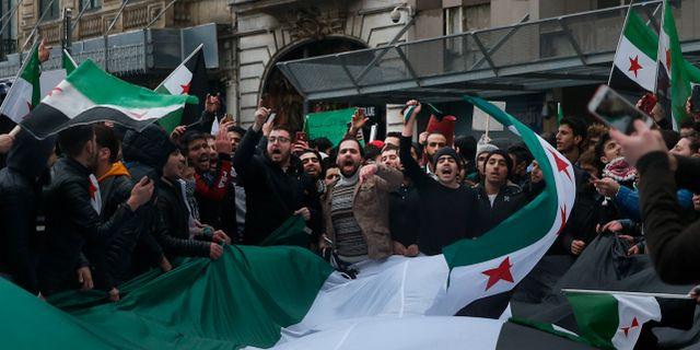 Demonstationer i Istanbul. Lefteris Pitarakis / TT NYHETSBYRÅN