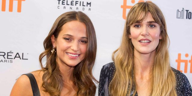 Alicia Vikander and Lisa Langseth. Arkivbild. GEOFF ROBINS / AFP