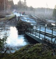 Arkivbild: En bro i norra Skåne förstördes när en damm brast 2010. Rickard Nilsson / TT / TT NYHETSBYRÅN