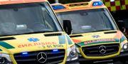 Ambulanser. Arkivbild. Johan Nilsson/TT / TT NYHETSBYRÅN