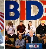 Michael Bloomberg och Joe Biden. TT