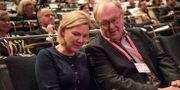 Finansministern Magdalena Andersson, S, och förre statsministern Göran Persson.  Filip Erlind/TT / TT NYHETSBYRÅN