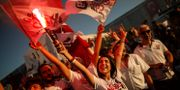 CHP-supportrar i Istanbul tidigare i år. Emrah Gurel / TT NYHETSBYRÅN