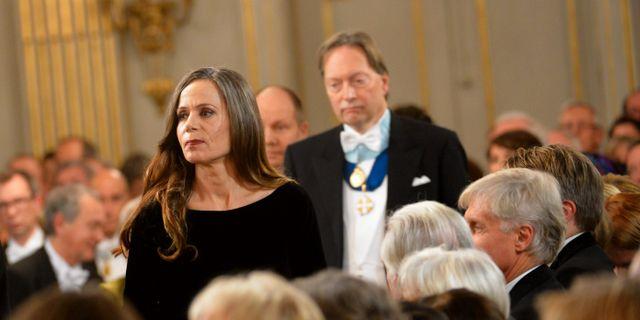 Sara Danius och Horace Engdahl. JONAS EKSTRÖMER / TT / TT NYHETSBYRÅN