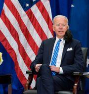 Scott Morrison och Joe Biden i New York. Evan Vucci / TT NYHETSBYRÅN