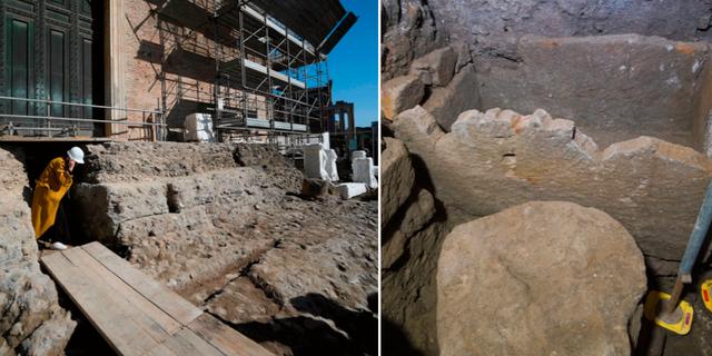 Curia i Rom där fyndet gjordes /Stenkistan  FILIPPO MONTEFORTE / Andrew Medichini / TT NYHETSBYRÅN